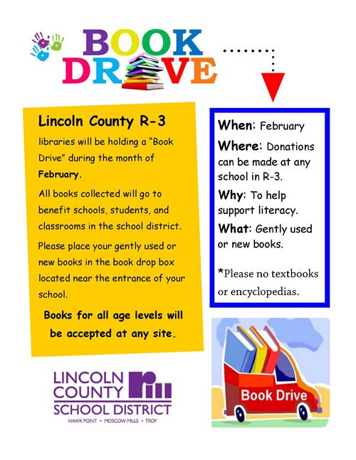 District Book Drive During the Month of February