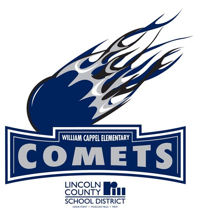William Cappel Elementary Comets Logo