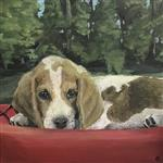 painting of puppy