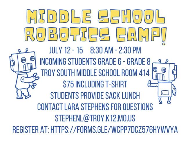 Middle School Robotics Camp